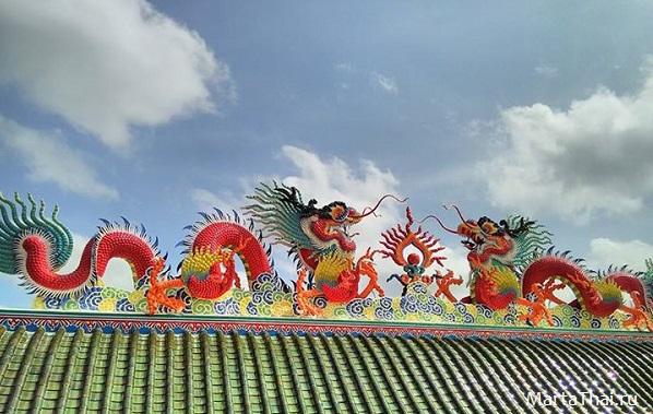 Китайский храм Viharnra Sien, Паттайя