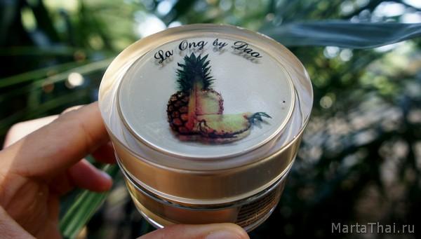 Тайский ананасовый крем при демодекозе
